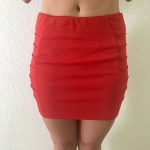 Red High Waisted Skirt ✨